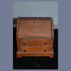 Old Wood Doll Miniature Dollhouse Desk Charming