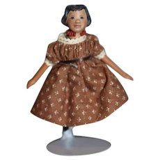 Vintage Wood Hitty Miniature Doll in F.A.O. Schwarz Box  Wood Jointed