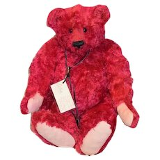 "Wonderful Artist Teddy Bear Bonnie's  Buddies ""Victor"" HUGE Red Mohair Jointed"