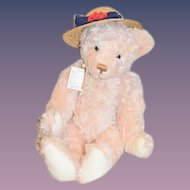 Artist Teddy Bear Lenore Demont Just Wee Bears W/ Tag Pink Jointed