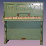 Antique Doll Child's Wood Upright Piano Wonderful Display!! Plays!