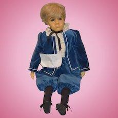 Wonderful Doll Artist Wax Doll By Gillian Charlsen of British Doll Artist Association of England Prince Edward Glass Eyes