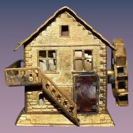 Old Miniature Dollhouse Metal Ornate Tape Measure GORGEOUS Brass 1800's Watermill
