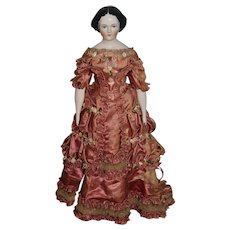 Gorgeous Emma Clear China Head Doll W/ Fab Clothes Costumed by Clara Riggs GORGEOUS