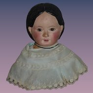 Antique Award Winning Papier Mache Bust Mounted LARGE