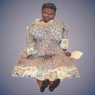 Vintage Black Maggie Head Doll W. Tag 1955