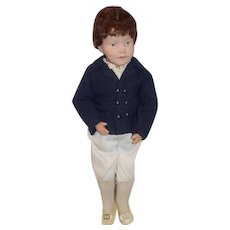 Antique Doll Wood Carved Jointed Schoenhut Character Boy Adorable