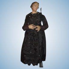 Antique Doll Creche Enamel Eyes  Angelic Face Religious Icon