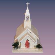 Vintage Miniature Church Doll Musical