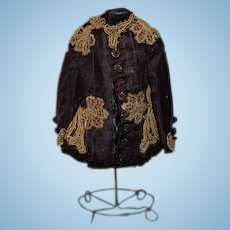 Antique Doll WONDERFUL Beaded Velvet Ornate Jacket Top