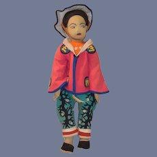 """Wonderful HUGE Old Felt Cloth Doll Original Clothing Big Studio Doll 36"""" Tall"""