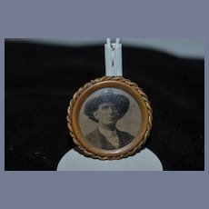 Old Miniature Doll Dollhouse Brooch Or Frame Photograph Picture