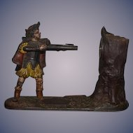 Old JE Stevens Tyrolese Bank William Tell 1877 New Creedmoor Bank Mechanical Cast Iron