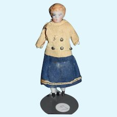 Antique Doll China Head Dollhouse Miniature Original Factory Clothes