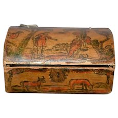 Old Doll Trunk Litho Unusual Miniature Charming