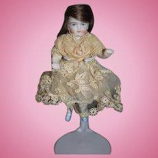 Antique Doll Miniature All Bisque Dollhouse Size Wonderful Clothes