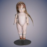 Antique Doll Miniature All Bisque Dollhouse