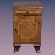 Old Doll Miniature Inlaid Dollhouse Commode Or Cabinet Dovetailed