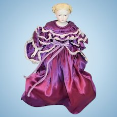 Beautiful Emma Clear Parian Doll Nicely Dressed