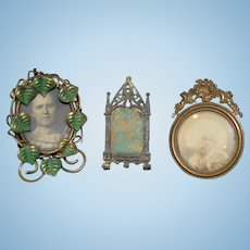 Antique Ornate Miniature Frame Frames OLD Lot Of Three for Dollhouse