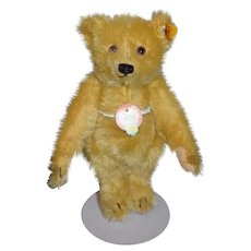 Sweet Teddy Bear Jointed Mohair Petsy Button Tag Chest Tag