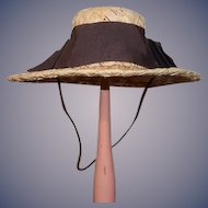 Old Doll Straw Hat W/ Bows Neiman Marcus Sweet