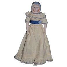 Wonderful Emma Clear Doll Glass Eyes Gorgeous W/ Corset Humpty Dumpty Body