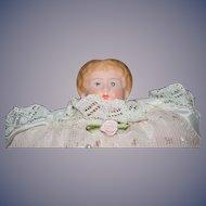 Old Metal Head Doll Head Shoulder Plate Heart Pillow