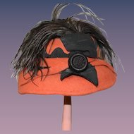 Old Doll Hat Bollman Fashioned By Jacqueline Fab Feather Fancy
