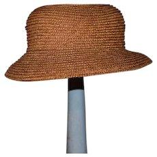 Wonderful Old Straw Doll Hat Bonnet