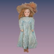 Antique Doll French Doll Lanternier Prevost Huret Closed Mouth Fashion Doll