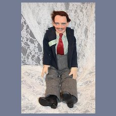 Vintage Clark Gable Ron Kron Doll W/ Signed Photograph By Ron Kron Clark Gable Caricature Rare