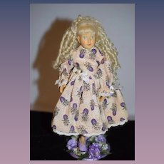 Robert Raikes Wood Carved Jointed Doll Signed