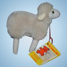 Wonderful Vintage Steiff Miniature Lamb W/ Tag great for Doll Flori
