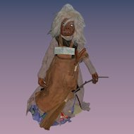 Artist Doll Carved Wood Meg Moulach A Highland Brownie By Edward Gonski Troll
