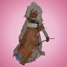 Artist Doll Carved Wood Meg Moulach A Highland Brownie By Edward Gonski Troll