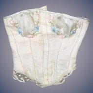 Sweet Old Doll Corset Very Decorative Fashion Doll Lace and Flowers