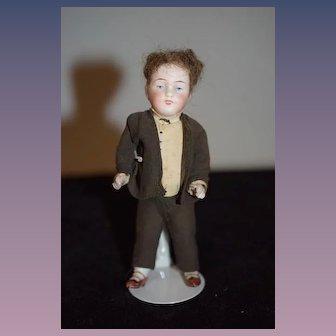 Antique Doll Miniature Original Factory Clothing All Bisque Dollhouse