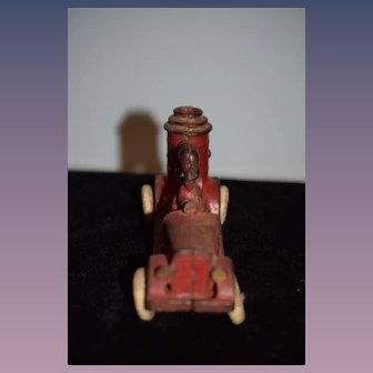 Old Fire Truck Cast Iron Rubber Wheel Old Vehicle