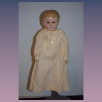 Antique Doll Oil Painted Cloth Doll Martha Chase Stockinette Sweet