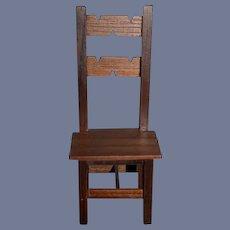 Wonderful Vintage Doll Chair Wood Carved Sonia Messer Sonja Messer Original Box