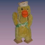 Old Doll Toy Mohair Jointed Sailor Duck Stuffed Animal Felt Feet Adorable