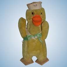 Old Doll Toy Mohair Jointed Sailor Duck Stuffed Animal Felt Feet Adorable