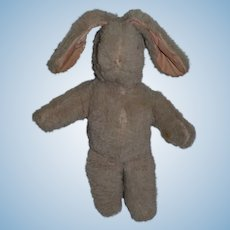 Old Bunny Rabbit Pink Eyes Stuffed Animal