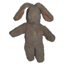 Old Bunny Rabbit Pink Eyes Stuffed Animal