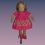 Old Lenci Cloth Doll Signed Sweet Character Original Clothing