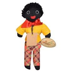 Wonderful Golliwog Gollywog Cloth Doll Limited Edition Robin Rive Black Cloth Doll Artist W/ Tags