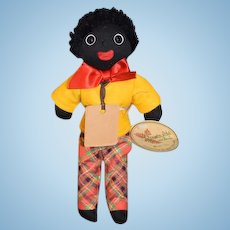 Wonderful Golliwog Gollywog Cloth Doll Limited Edition Robin Rive Black Cloth Doll Artist W/ Tags