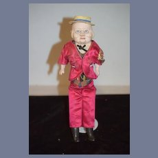 Antique Doll Papier Mache Talker Doll Wonderful