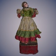 Antique Doll Automaton Bisque Head Gypsy Large Size Fancy Dancing